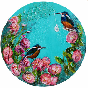Original Art Work - Playing in the Camellias