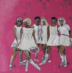 Original Art Work - Tennis Girls
